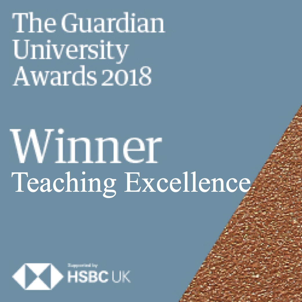 Guardian University Awards 2018 Winner: Teacing Excellence