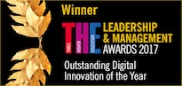 Award winner logo for digital innovation
